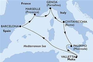 Zimsko sonce Sredozemlja - križarjenje 2020